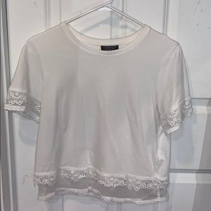 Topshop Short Sleeved Crop Top
